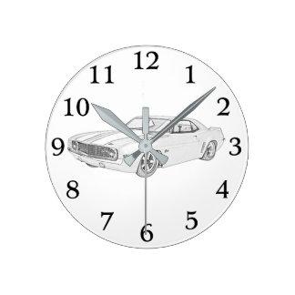 1969 Chevy Camaro Round Clock