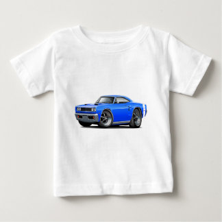 1969 Coronet RT Blue-White Double Scoop Hood Baby T-Shirt