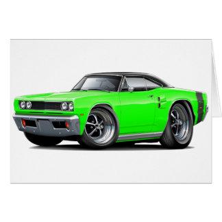 1969 Coronet RT Lime-Black Top Car Card
