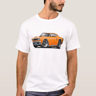 1969 Coronet RT Orange-Black Double Scoop Hood T-Shirt