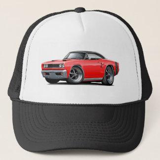 1969 Coronet RT Red-Black Top Double Scoop Hood Trucker Hat