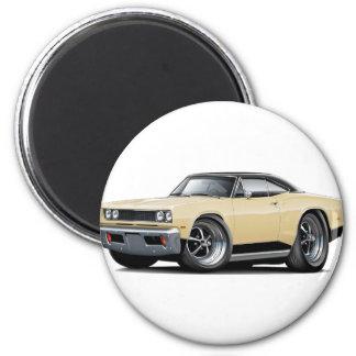 1969 Coronet RT Tan-Black Car 2 Inch Round Magnet