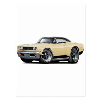 1969 Coronet RT Tan-Black Car Postcard