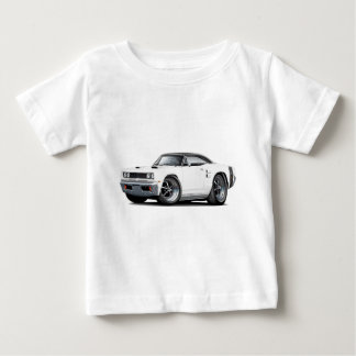1969 Coronet RT White-Black Top Double Scoop Hood T-shirt