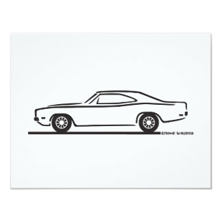 1969 Dodge Charger 4.25x5.5 Paper Invitation Card