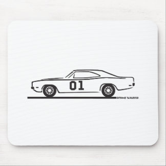 1969 Dodge Charger General Lee Mouse Pad