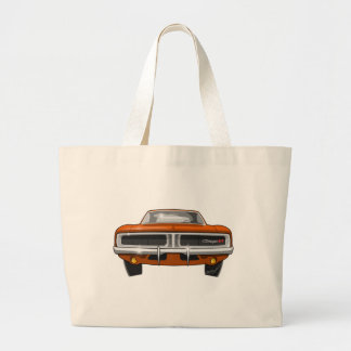 1969 Dodge Charger Large Tote Bag
