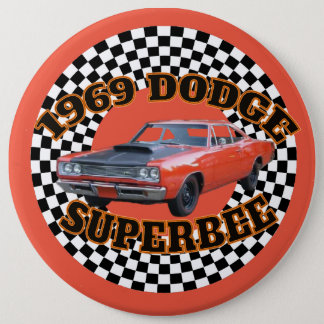 1969 Dodge Super Bee Button. Pinback Button