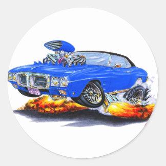 1969 Firebird Blue-Black Top Classic Round Sticker