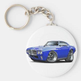 1969 Firebird Blue Car Basic Round Button Keychain
