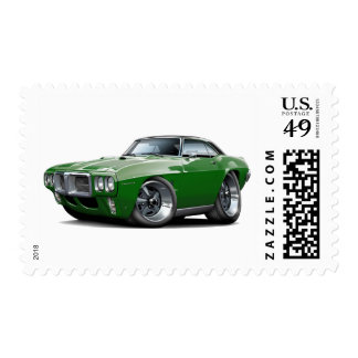 1969 Firebird Dark Green-Black Top Car Postage