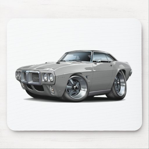 1969 firebird grey black top car mouse pads zazzle. Black Bedroom Furniture Sets. Home Design Ideas
