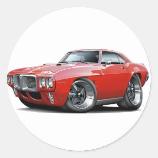 1969 Firebird Red Car Classic Round Sticker