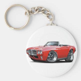 1969 Firebird Red Convertible Keychain