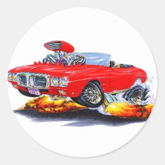 1969 Firebird Red Convertible Classic Round Sticker