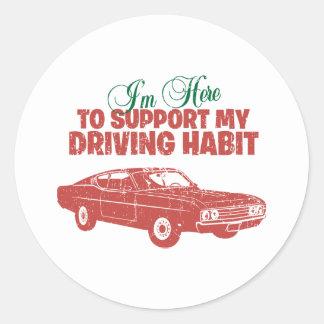 1969 Ford Torino Talladega Round Stickers