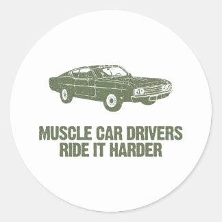 1969 Ford Torino Talladega Round Sticker