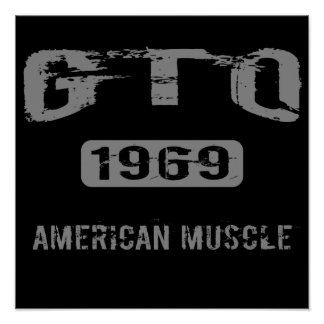 1969 GTO American Muscle Poster