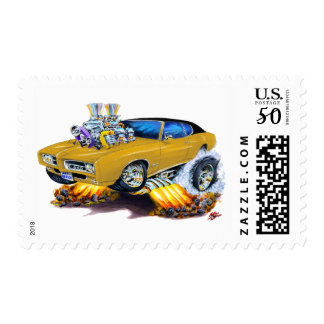 1969 GTO Gold Car Postage