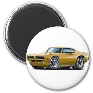 1969 GTO Judge Gold Hidden Headlight Car Magnet