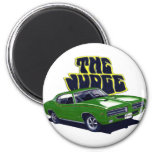 1969 GTO Judge Green Car 2 Inch Round Magnet