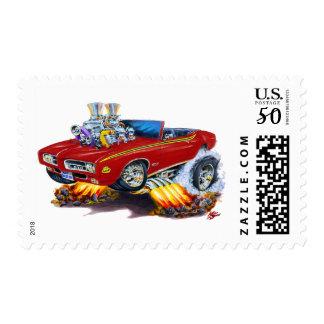 1969 GTO Judge Maroon Convertible Postage