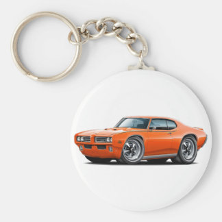 1969 GTO Judge Orange Car Keychain