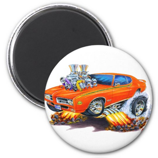 1969 GTO Judge Orange Car Magnet