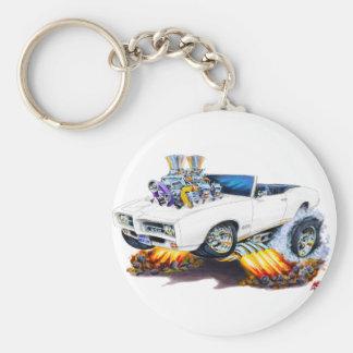 1969 GTO White Convertible Basic Round Button Keychain