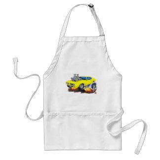 1969 GTO Yellow Car Adult Apron