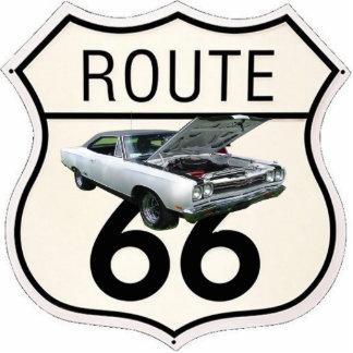 1969 GTX / Route 66 sign Statuette