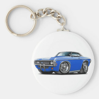 1969 Impala Blue-Black Top Car Keychain