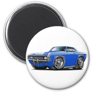 1969 Impala Blue Car 2 Inch Round Magnet