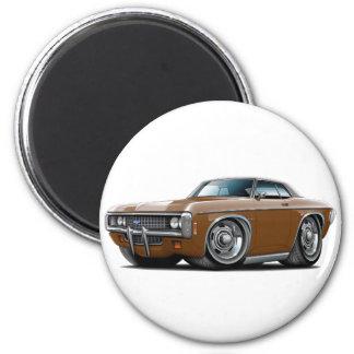 1969 Impala Brown-Black Top Car 2 Inch Round Magnet