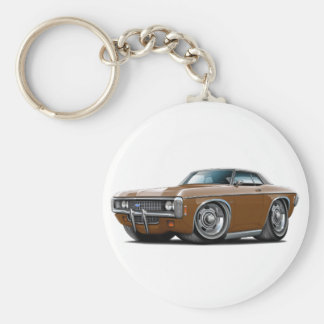 1969 Impala Brown-Black Top Car Keychain