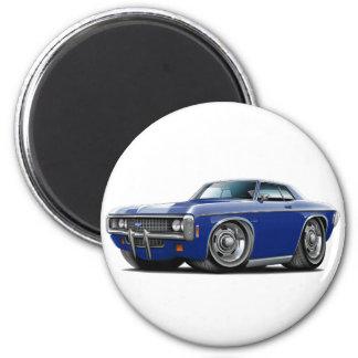 1969 Impala Dk Blue Car 2 Inch Round Magnet