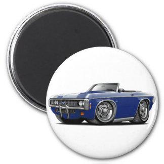 1969 Impala Dk Blue Convert 2 Inch Round Magnet