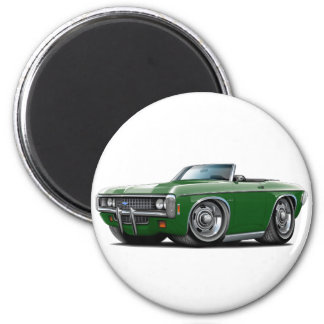 1969 Impala Dk Green Convert 2 Inch Round Magnet