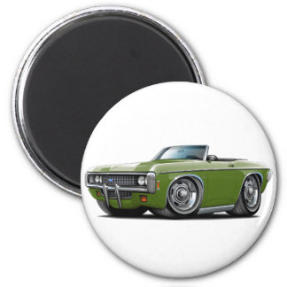 1969 Impala Frost Green Convert 2 Inch Round Magnet