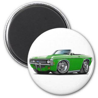 1969 Impala Green Convert 2 Inch Round Magnet