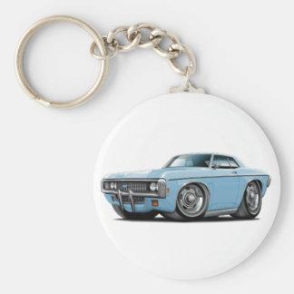 1969 Impala Lt Blue Car Keychain