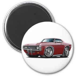 1969 Impala Maroon Car 2 Inch Round Magnet