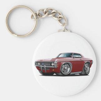 1969 Impala Maroon Car Keychain