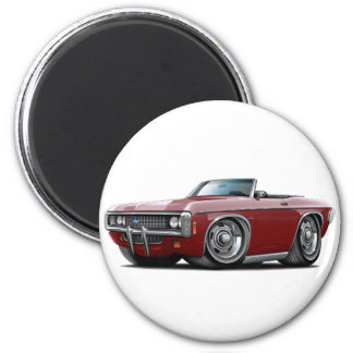 1969 Impala Maroon Convert 2 Inch Round Magnet