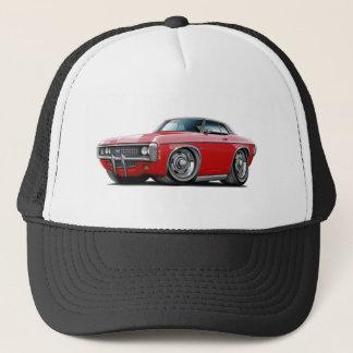 1969 Impala Red-Black Top Car Trucker Hat