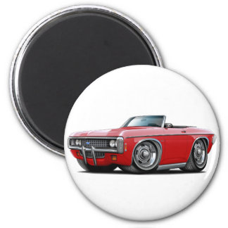 1969 Impala Red Convert 2 Inch Round Magnet
