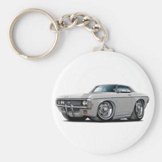 1969 Impala Silver-Black Top Car Keychain