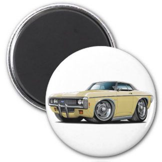 1969 Impala Tan-Black Top Car 2 Inch Round Magnet