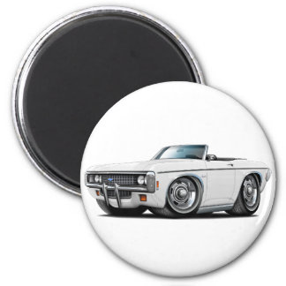 1969 Impala White Convert 2 Inch Round Magnet