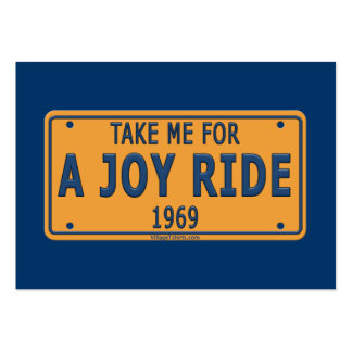 1969 Joy Ride Car Business Card